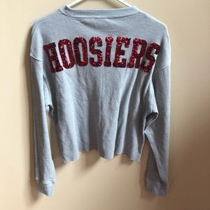 NWOT PINK BY VS Indiana Hoosiers Bling Shirt Med